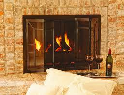 tempered glass for fireplace doors glass doors u2014 fireplace u0026 bbq center