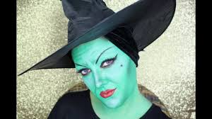 wicked elphaba the green witch halloween makeup tutorial english