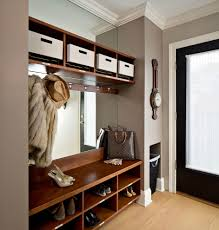 dressing room mirror diy entry transitional with coat hook built