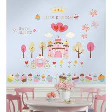 tickers chambre fille princesse stickers muraux princesse gâteaux déco chambre enfant