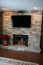 fireplace flexible stone fireplace with tv for house corner