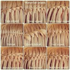 types of hair braids different types of waterfall braids 43 fancy braided hairstyle