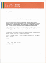Academic Recommendation Letter Template by Nursing Recommendation Letter From Employer Life