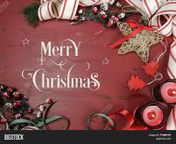 merry christmas text on rustic image u0026 photo bigstock