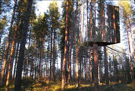 hotels the invisible treehouse treehotel spot cool