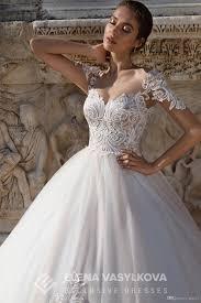 romantic wedding dresses elena vasylkova 2017 with sheer neck and