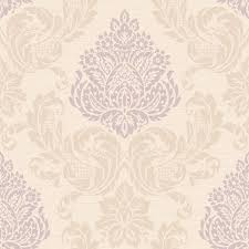 Purple Damask Wallpaper by Callaway Cottage Cream And Light Purple Silky Damask Wallpaper