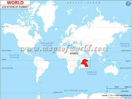 kuwait on a map where is kuwait location of kuwait