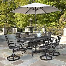 Patio Dining Set Swivel Chairs - home styles 5560 3756 largo rectangular dining table and 6 swivel