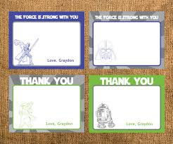 star wars birthday thank you cards printable party ideas star