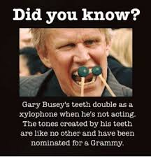 Gary Busey Meme - did you know gary busey s teeth double as a xylophone when he s