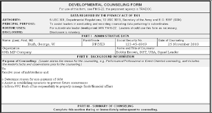 Da Form 4856 Initial Counseling Fillable Obmailinberk50 S Soup