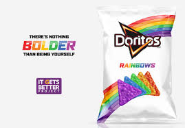 doritos introduces rainbow doritos to help the lgbt community us