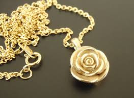 rose pendant necklace gold images Heart touching rose pendent necklace jpg