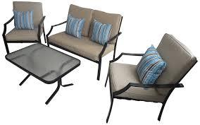 Patio Furniture Set Furniture Summer Winds Patio Furniture Black Wicker Sofa Set And