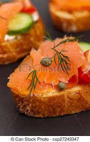 canape saumon nourriture canape saumon fumé doigt canape foyer photo de