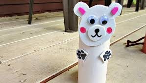 polar bear zoo animal toilet paper roll crafts for kids