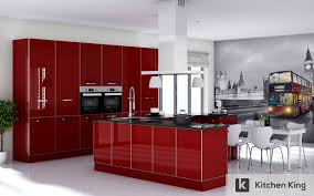 red modern kitchen kitchen designs and kitchen cabinet in dubai uae kitchen king
