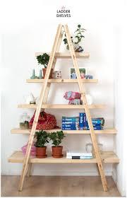 Bookcase Ladder Ikea by Ladder Shelf Unit Reclaimed Wood Ladder Shelf Ladder Shelf Oak