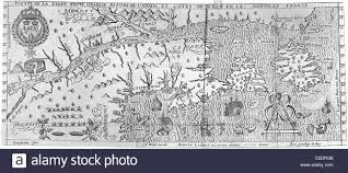 St Lawrence River Map Map Of Upper St Lawrence River Stock Photo Royalty Free Image