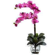 faux orchids nearly phalaenopsis orchid with vase arrangement in
