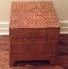 wicker ottoman ebay