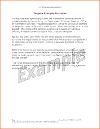 Business Requirements Document Template Pdf 4 Disclaimer Template Letter Executive Resume Template