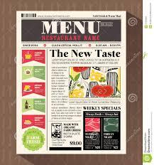 restaurants menu templates free restaurant menu design template in newspaper style stock vector design menu newspaper restaurant style template