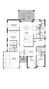 Floor Plan Castle The Castle 4 Bed 2 Bath 17m Luxury Single Storey Home Design