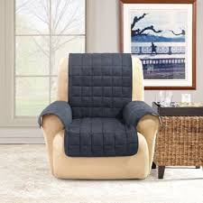 How To Protect Wall From Chairs Sure Fit Soft Suede Waterproof Chair Protector Free Shipping On