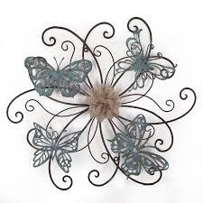 amazon com adeco dn0015 flower u0026 butterfly urban design metal