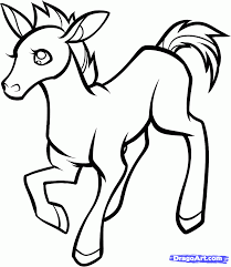 how to draw a foal baby foal step by step farm animals animals