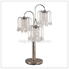 Chandelier Desk Lamp 5 Light White Diamond Chandelier Table Lamp Home Design Gallery