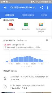 Google Live Maps Live Stoßzeiten Daten In Google Maps Rebrob