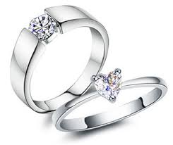 his and hers engagement rings his and engagement rings set with heart cut diamond in