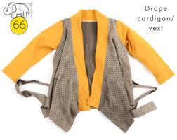 Drape Cardigan Pattern Hoodie Sewing Pattern Pdf Sizes 0 To 6t Photo Tutorial