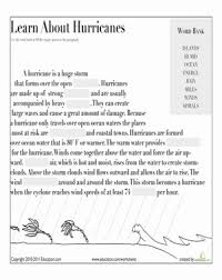 learn about hurricanes worksheet education com