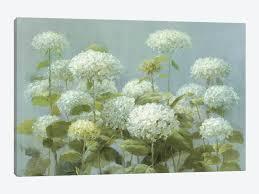 white hydrangea white hydrangea garden canvas wall by danhui nai icanvas