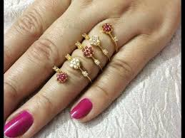 women gold finger ring designs
