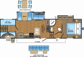 triple bunk travel trailer floor plans 48 inspirational fifth wheel cer floor plans house design 2018