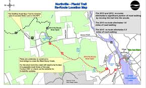 Adirondack Mountains Map Major Northville Placid Trail Reroute Completed The Adirondack