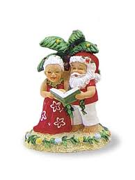 hawaiian caroling clauses ornament with