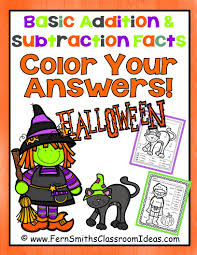 Halloween Fun Printables Fern U0027s Freebie Friday Free Halloween Fun Basic Addition Color