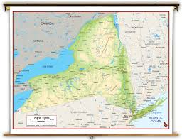 Map Of Albany New York by New York State Physical Classroom Map From Academia Maps