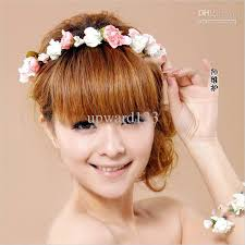 floral headdress flower headdress for wedding bridal garland flower hair wrist