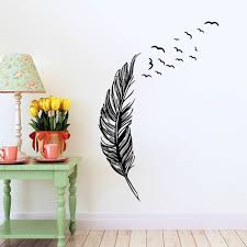 aliexpress com buy flying feather wall sticker home decor aliexpress com buy flying feather wall sticker home decor adesivo de parede home decoration wallpaper wall sticker living room decor from reliable