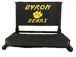 Cushioned Bleacher Seats With Backs Stadium Chair Back
