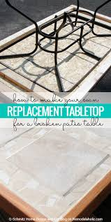 Patio Table Glass Top Remodelaholic How To Replace A Patio Table Top With Tile