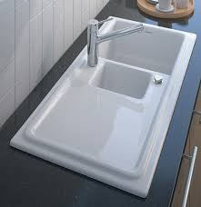 built in ceramic kitchen sink by duravit new cassia