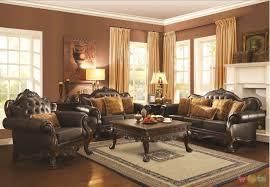 brown living room set formal living room sets yellow sofa beside gray curtain window tv